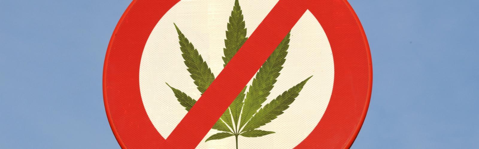 Prohibition Cannabis Simbol