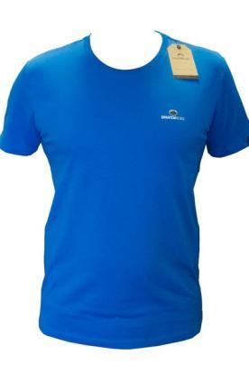 T shirt Petit Logo Bleu Roi Homme