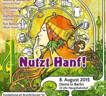 Hanfparade 2015 allemands vont dans rue deman