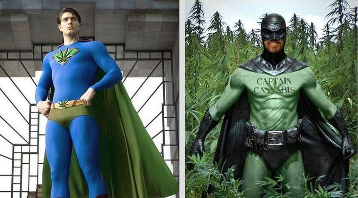 disfraz superheroe marihuana