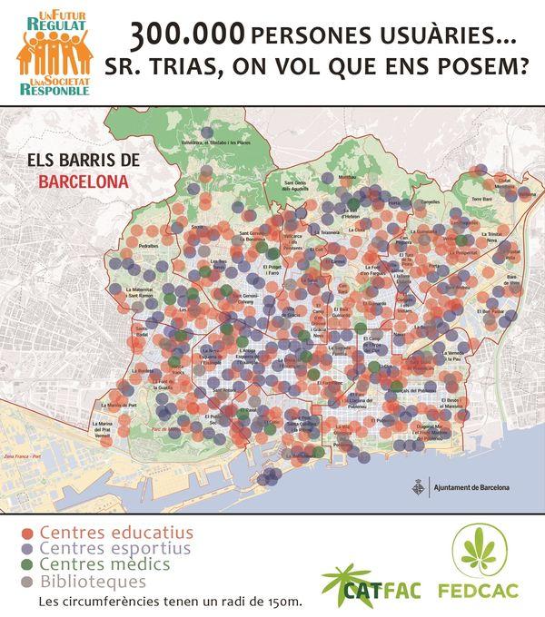 Asociaciones Cannabicas Barcelona Mapa.Asociaciones Cannabicas Barcelona Mapa Mapa