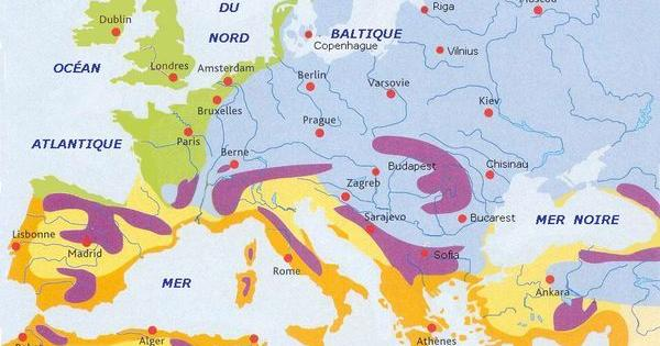 Carte climatique Europe I