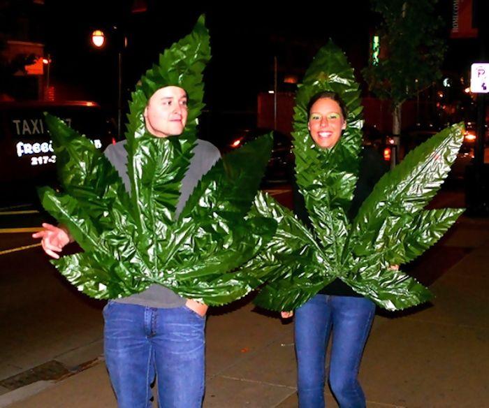 disfraz hoja marihuana