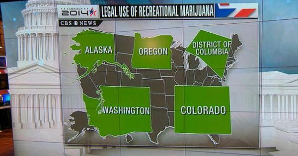 oregon alaska washington legalisation marijua