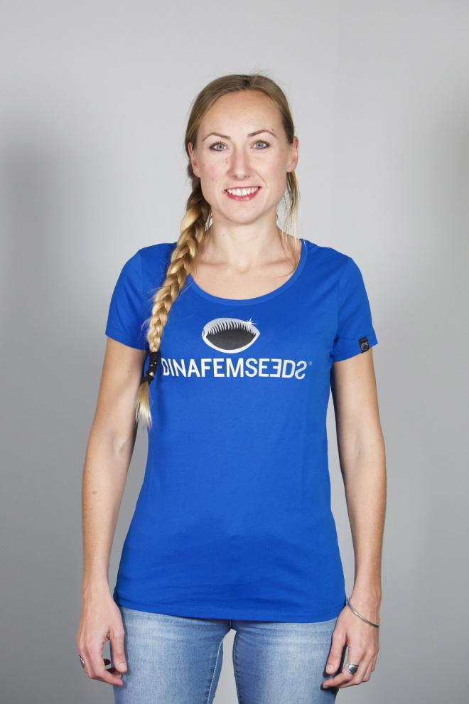 Big logo girls 39 t shirt royal blue for Big blue t shirts